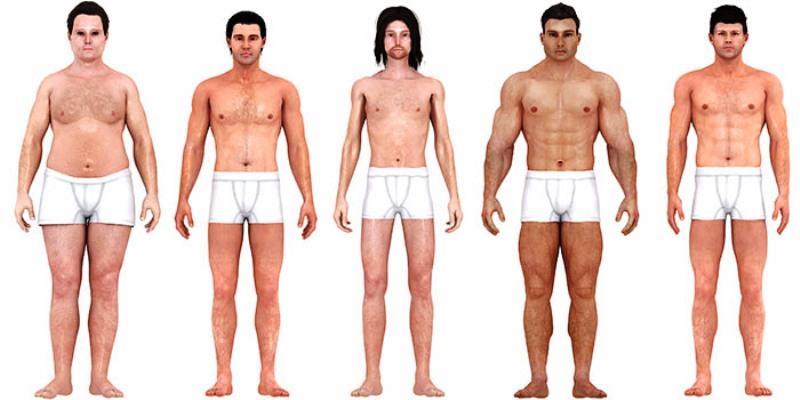 изменение идеала мужского тела