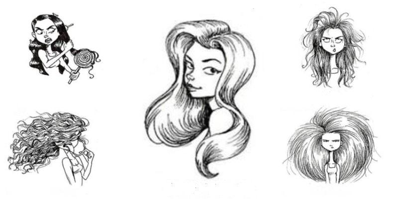7 иллюстраций сложности укладки женских причесок