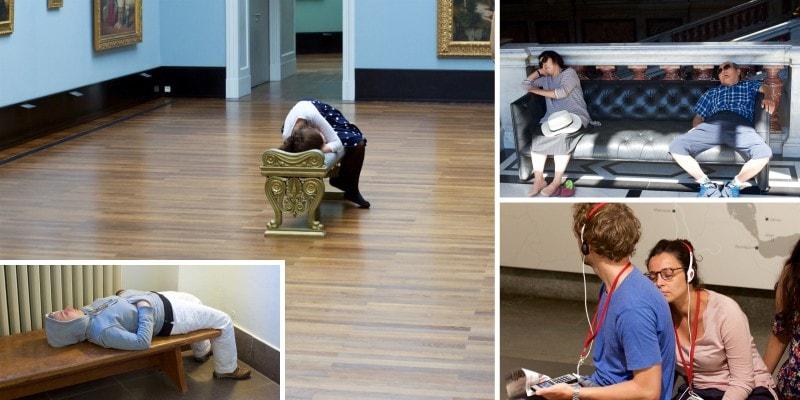 Спящие в музеях