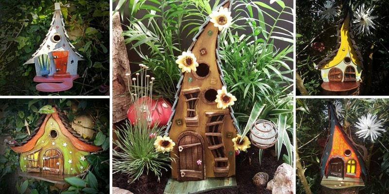 сказочные скворечники и домики для птиц из дерева