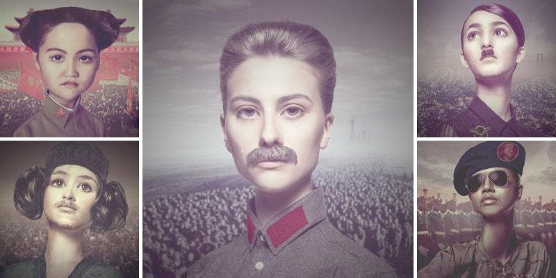 Фотографии детей в образе известных диктаторов и тиранов