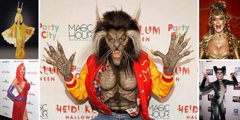 Хайди Клум костюм королева Хеллоуина