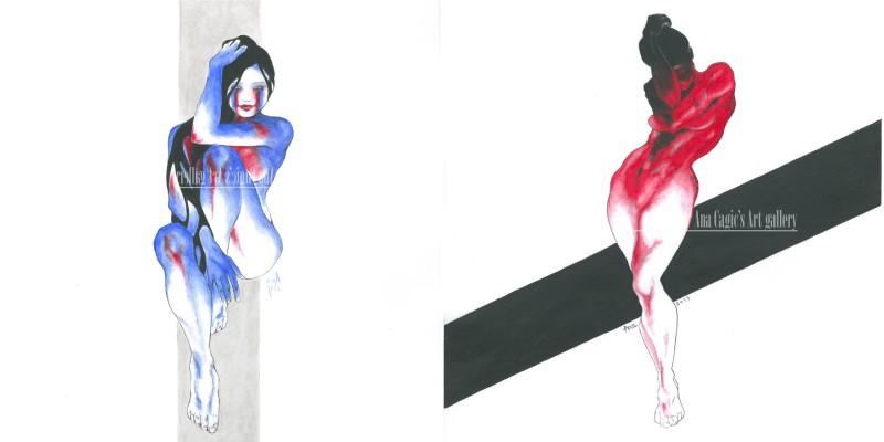 Красочные женские фигуры