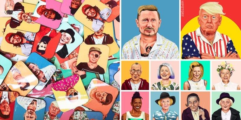 Карикатуры на мировых лидеров в образе хипстеров