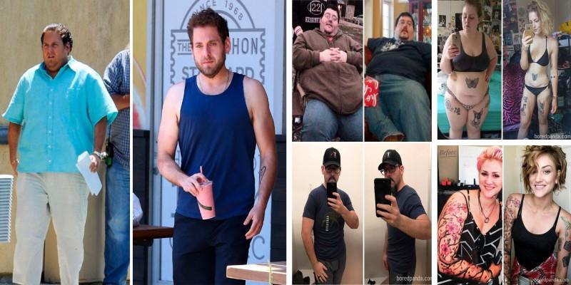 Они смогли кардинально похудеть. Невероятные фотографии людей сбросивших по 80 кг. и даже больше!