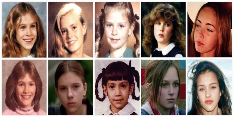 детские фотографии голливудских киноактрисы
