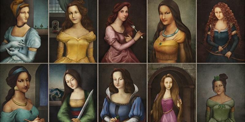 10 портретов Диснеевских принцесс эпохи Возрождения