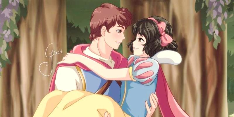 12 Диснеевских принцесс в стиле Аниме