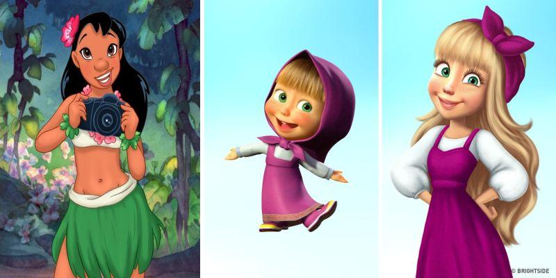 Повзрослевшие персонажи мультфильмов