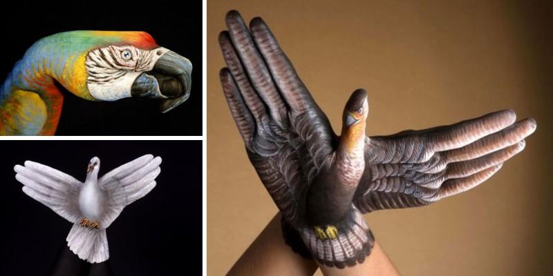 нарисованные на руках животные